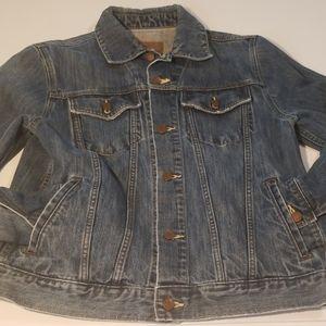 "Old Navy Hand painted ""CHOOSE USED"" Denim jacket"